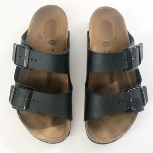 Kids Black Birkenstock Sandals Size 33